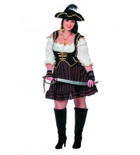 Pirate Bruin Dutch Delight Jurk Vrouw Plus Size