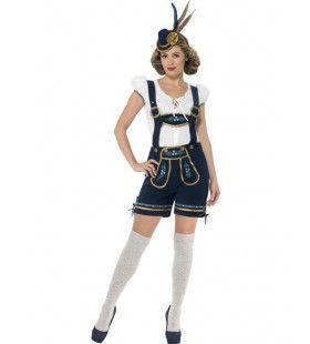 Luxe Beierse Korte Lederhosen Barbara Vrouw Kostuum