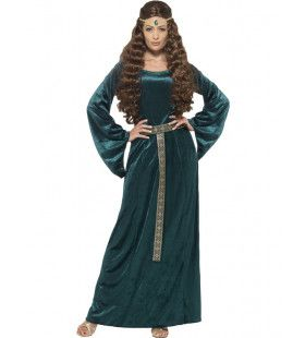 Middeleeuwse Dame Glacia Vrouw Kostuum
