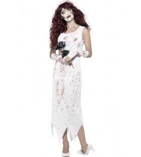 Zombie Bruid Anita Vrouw Kostuum