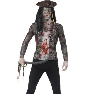 Zombie Piraat T-Shirt Man