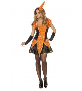Ms Pumpkin Luxe Joker Vrouw Kostuum