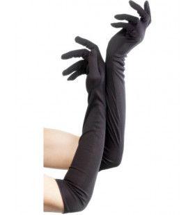 Lange Zwarte Handschoenen Vrouw