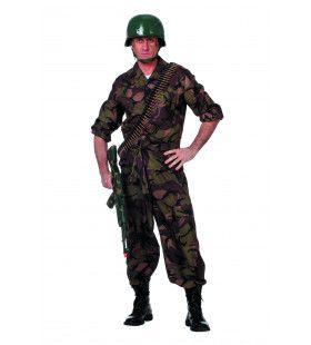 Battle Field Camouflage Groen Bruin Leger&oorlog Kostuum Man