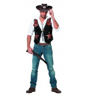 Lonely Star Cowboyvest Man Kostuum