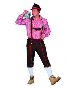 Bierdrinkende Tiroler Bruin Man Kostuum
