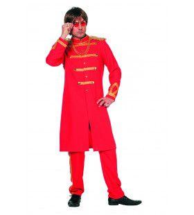 Rode Sgt. Pepper Van De Beatles Man Kostuum