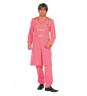 Roze Sgt. Pepper Van De Beatles Man Kostuum