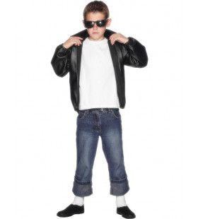 Officieel Grease T-Bird Jasje Jongen Kostuum