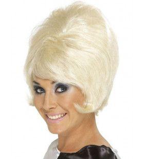 60s Beehive Blonde Pruik