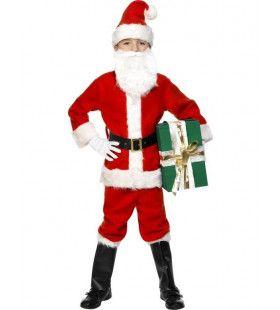 Luxe Kerstman Jongen Kostuum