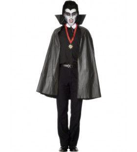 Zwarte Pvc Cape Kostuum