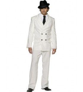 Fever Gangster Wit Man Kostuum