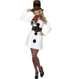 Juffrouw Snowpop Vrouw Kostuum