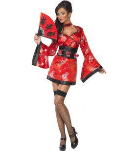 Sexy Geisha Vrouw Kostuum