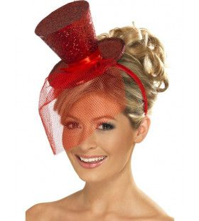Mini Glitter Hogehoed Rood Vrouw