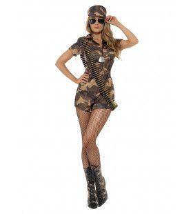 Legermeisje Sexy Vrouw Kostuum