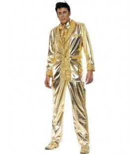 Elvis Kostuum (Goud) Man