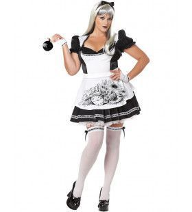 Donkere Alice In Wonderland Kostuum (Grote Maat) Vrouw