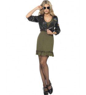 Top Gun Jurk Vrouw Kostuum