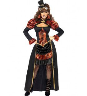 Vrouwen Steampunk Vampier Vrouw Kostuum