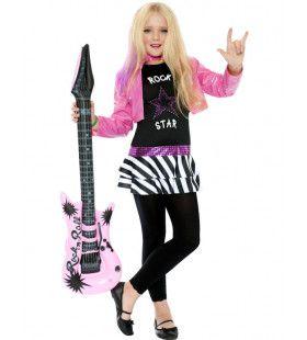 Kind Rocker Meisje Kostuum