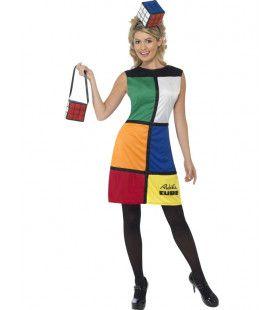 Vrouwen Rubiks Kubus Vrouw Kostuum