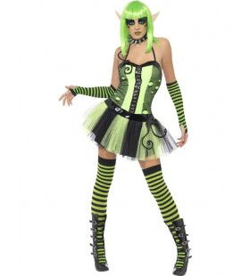 Vrouwen Punk Elf Vrouw Kostuum