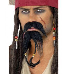 Piraten Lange Baard En Snor