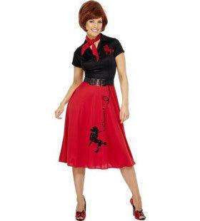 50s Jurk Vrouw Kostuum