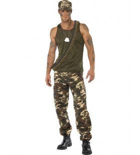 Khaki Camo Man Kostuum