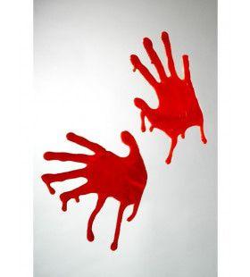 Bebloede Handen Raamdecoratie Decoratie