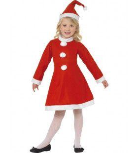 Kind Santa Girl Kostuum Meisje