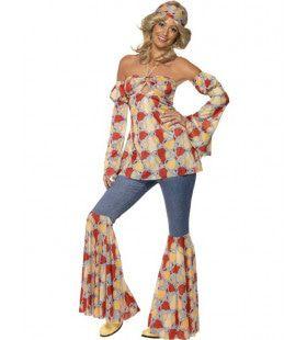 Vintage Hippie Vrouw Kostuum