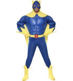 Luxe Bananaman Superheld Man Kostuum