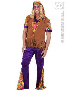 Hippie Vest Met Hoofdband Suedelook