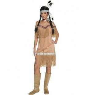 Western Indiaanse Dame Vrouw Kostuum
