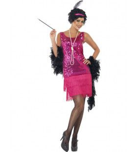 Glimmende Flapper Vrouw Kostuum