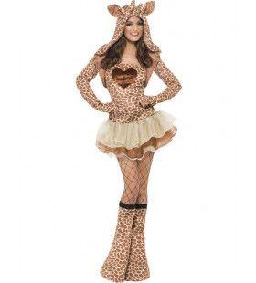 Sexy Giraffe Vrouw Kostuum