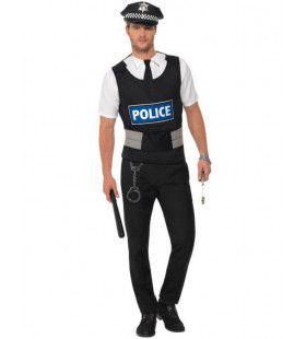 Politieagent Verkleedset Man Kostuum