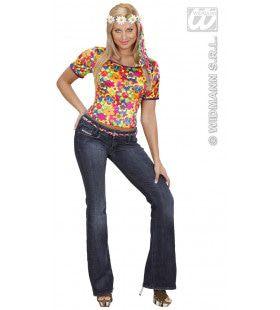 T-Shirt Hippie Fluweel Vrouw