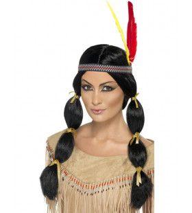 Vrouw Indiaanse Pruik