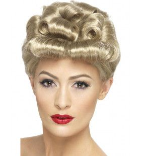 Blonde Pruik 40s