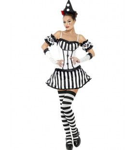 Vrouw Clown Outfit Vrouw