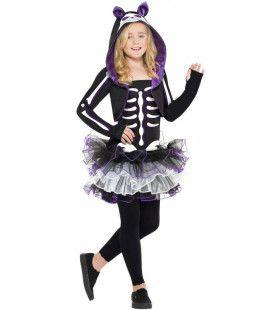 Tiener Skelet Kat Kostuum Meisje