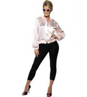 Officiele Grease Roze Dame Jack Vrouw Kostuum