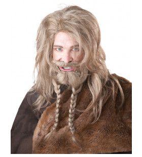 Stoere Viking Baard, Pruik En Snor Blond