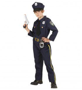 Dappere Politie Agent Jongen Kostuum
