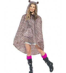 Luipaard Regen-Poncho Kostuum