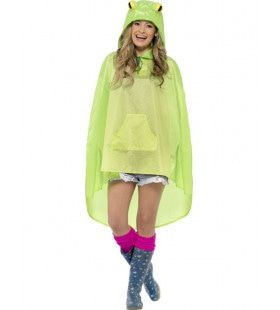Kikker Party Regen-Poncho Kostuum